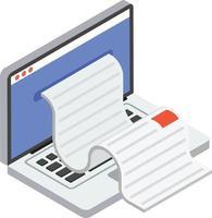 conceitos de recibo online vetor