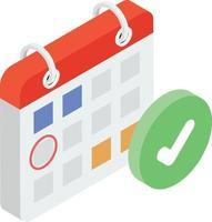 conceitos de calendário verificados vetor