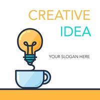 banner de ideia de sucesso criativo vetor