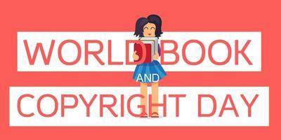 livro mundial e dia dos direitos autorais vetor