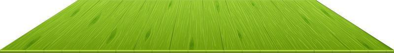 ladrilhos de madeira verdes isolados no fundo branco vetor