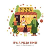 ilustração em vetor pizza time illustration
