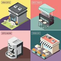ilustração em vetor conceito design 2x2 café de rua