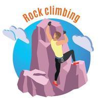 ilustração em vetor composição escalada em rocha