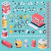 ilustração em vetor conceito máquina Steampunk