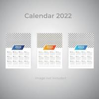 modelo de calendário de parede empresarial gradiente colorido vetor