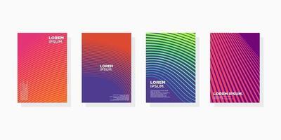 colorido mínimo moderno cobrir conjunto de capas de fundo abstrato. vetor eps 10 de composição de formas gradientes legais