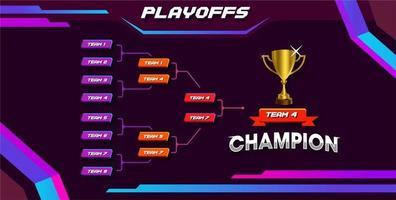 esporte moderno jogo torneio campeonato concurso estágio suporte placa vetor com ouro campeão troféu prêmio ícone ilustração fundo no layout de estilo de tema de tecnologia.