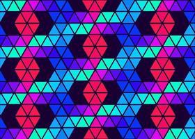padrão de vetor, polígonos nas cores do arco-íris, padrão brilhante para papel de parede, embalagem, banner, panfleto nas cores azul, verde roxo, vermelho vetor