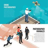 ilustração vetorial de banners isométricos de fotógrafo vetor
