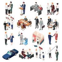 ilustração vetorial de ícones isométricos de políticos vetor