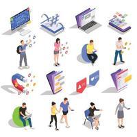 ilustração em vetor ícones isométricos de mídia social