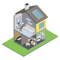 ilustração vetorial de construção de casa geminada vetor