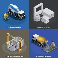ilustração em vetor conceito design de produção de concreto