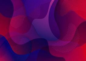 fundo geométrico moderno. composição de formas fluidas. ilustrador de arte vetorial gradiente vetor
