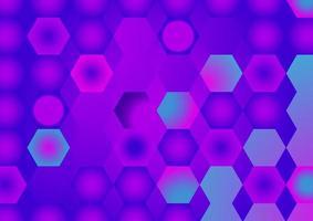 padrão geométrico colorido. fundo do hexágono gradiente vetor