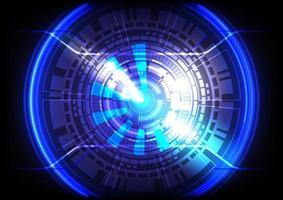 Círculo e esfera brilhantes de hud de ficção científica futurista. efeito de luz. abstrato base de alta tecnologia. interface de display head-up. tela de inovação de tecnologia de realidade virtual. negócio digital vetor