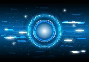 linhas e pontos. circuito hud brilhante de ficção científica futurista. abstrato base de alta tecnologia. interface de display head-up. tela de inovação de tecnologia de realidade virtual. efeito de luz. negócio digital vetor