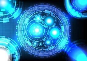 fundo abstrato. ciência do holograma. coleção de alta tecnologia digital futurista de ficção científica no círculo hud brilhante. inovação de alta tecnologia de realidade virtual. interface de display head-up. negócio digital vetor