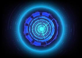 Círculo e esfera brilhantes de hud de ficção científica futurista. abstrato base de alta tecnologia. interface de display head-up. tela de inovação de tecnologia de realidade virtual. efeito de luz. negócio digital vetor
