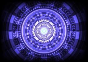 interface de display head-up. círculo hud brilhante de ficção científica futurista. abstrato base de alta tecnologia. inovação em tecnologia de realidade virtual. negócio digital. efeito de luz vetor