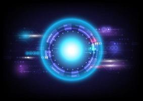 flechas de velocidade. Círculo e esfera brilhantes de hud de ficção científica futurista. efeito de luz. abstrato base de alta tecnologia. interface de display head-up. tela de inovação de tecnologia de realidade virtual. negócio digital vetor