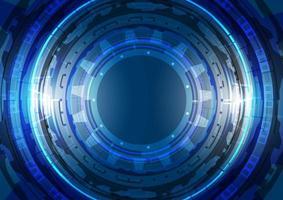 abstrato base de alta tecnologia. inovação em tecnologia de realidade virtual. interface de display head-up. circuito hud brilhante de ficção científica futurista. infográfico digital empresarial vetor