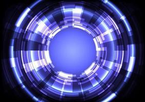 negócios de infográfico digital. fundo de alta tecnologia de holograma abstrato. inovação em tecnologia de realidade virtual. interface de display head-up. Círculo hud brilhante de ficção científica futurista vetor