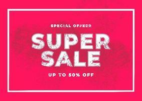 super oferta especial de venda. banner de oferta especial de fim de temporada. vetor