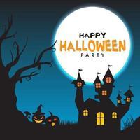 pôster de halloween para seu projeto para o feriado de halloween vetor