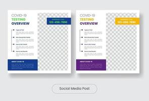 conjunto de modelos de banner de postagem de mídia social vetor