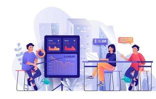 conceito de treinamento empresarial em design plano vetor