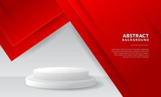 design de fundo abstrato moderno branco vermelho vetor