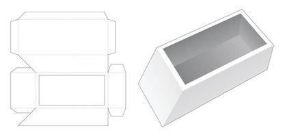modelo de corte de molde para caixa de embalagem vetor