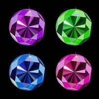 ilustração vetorial de conjunto de diamantes de luxo abstrato vetor