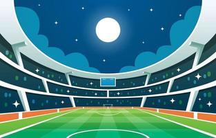 estádio de futebol à noite fundo vetor