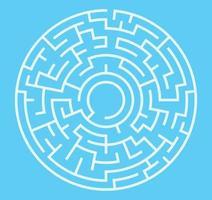 labirinto para crianças. labirinto de círculo abstrato. encontre o caminho para o presente. jogo para crianças. quebra-cabeça para crianças. enigma do labirinto. ilustração em vetor plana isolada no fundo branco. vetor livre