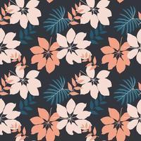 folhas de outono desenhadas à mão padrão sem emenda para moda, tecido, impressão têxtil ou papel de parede vetor