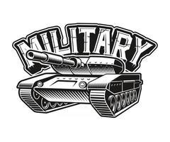 uma ilustração em vetor preto e branco de um tanque