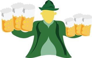 desenho vetorial de barman para preparar bebidas alcoólicas vetor