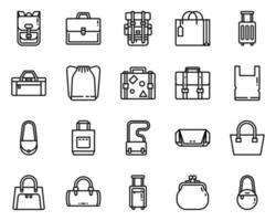 bolsas delinear ícone e símbolo para site, aplicativo vetor