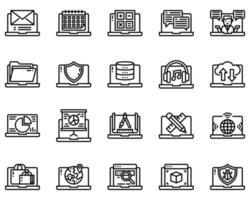 animais delinear ícone e símbolo para site, aplicativo vetor