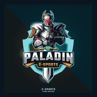 logotipo do mascote do esporte paladin vetor