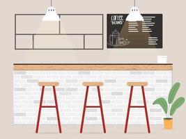 design de interiores de cafeteria em estilo simples vetor