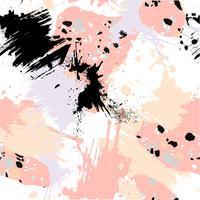 Abstrata sem costura padrão com pinceladas, salpicos de tinta e texturas de pedra. vetor