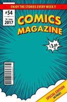 capa de quadrinhos. ilustração vetorial. vetor