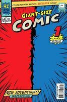 capa de quadrinhos. tamanho gigante em vetor. vetor