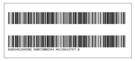 código de barras realista e modelo de ícone de número. ilustração em vetor plana isolada no fundo branco com sombra.
