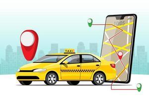 serviço de entrega de táxi com vetor de aplicativo de smartphone
