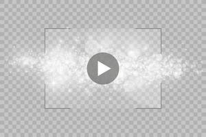 player de vídeo para web e aplicativos móveis estilo simples e efeito de luz brilhante. ilustração vetorial. vetor